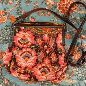 Vintage Festival Purse (leather strap)